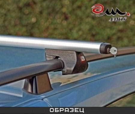 Багажник Amos Alfa на рейлинги с аэродин. дугами для Peugeot Bipper Van 3/ (2008-2018) № alfa-f1.4l