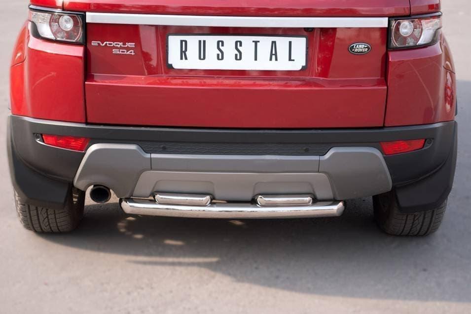 Защита заднего бампера d63_42х2 (дуга) Land Rover Range Rover Evoque Prestige u Pure (2011-2018) № REPZ-000810