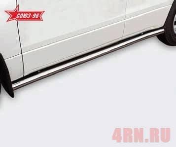 Пороги труба d60 для Suzuki Grand Vitara (2006-2014) № SZGV80270