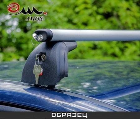 Багажник Amos Beta на крышу с аэродин. дугами для Peugeot 407 седан (2004-2010) № beta-b-107-f1.2l