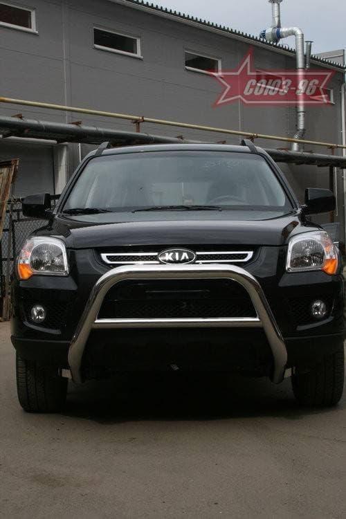 Решетка передняя мини d76 низкая для Kia Sportage (2008-2010) № KISP.56.0819