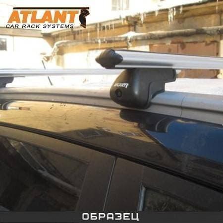 Багажник Атлант на интегрированные рейлинги с аэродин. дугами для Audi Q7 I (2006-2014) № 8811+8828