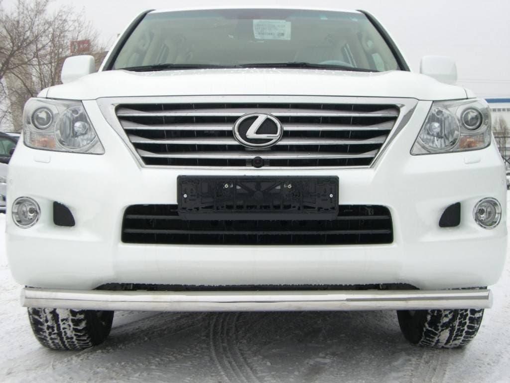 Защита переднего бампера d76 Lexus LX570 (2007-2011) № LLZ-000263