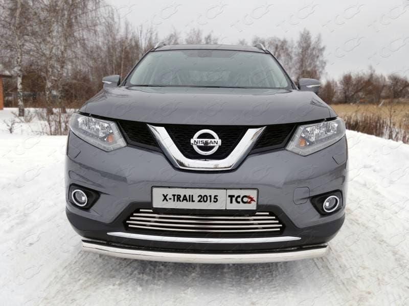 Защита передняя нижняя (короткая) 60,3 мм Nissan X-Trail (2015-2018) № NISXTR15-04