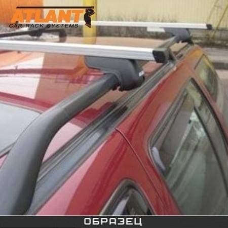 Багажник Атлант на рейлинги с прямоуг. дугами для SsangYong Rexton I 5-дв. (2001-2007) № 8810+8726