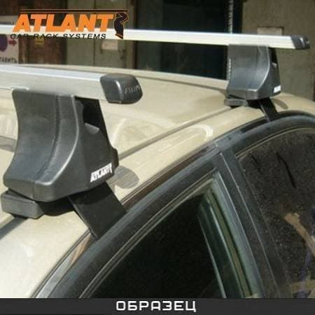 Багажник Атлант в сборе на крышу с прямоуг. дугами для Volkswagen Polo V седан (2010-2017) № 8475