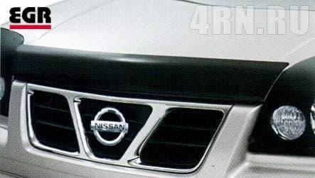 Дефлектор капота для Nissan X-Trail (2001-2006) № 027091