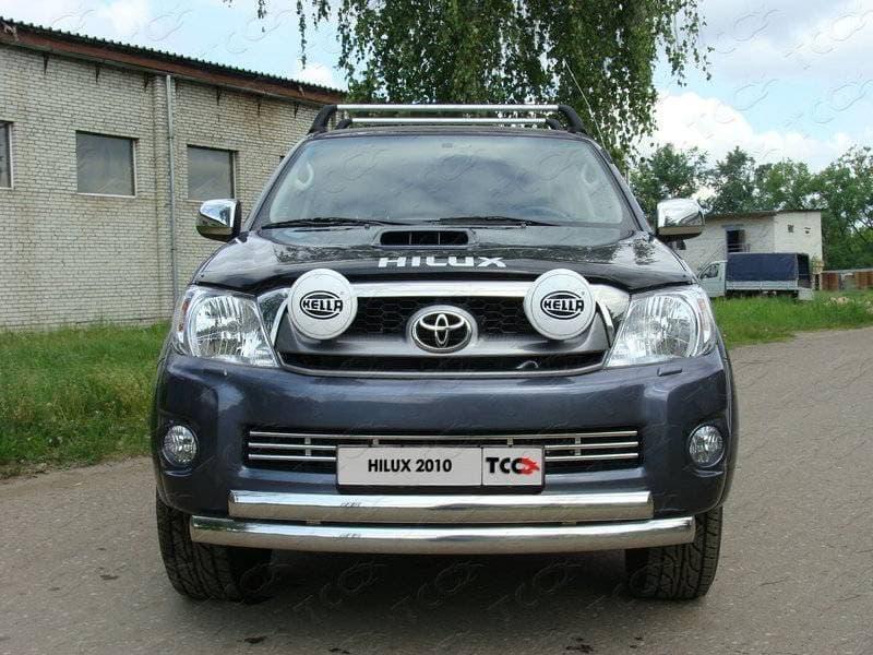 Защита передняя нижняя 75/75 мм для Toyota Hilux (2010-2015) № TOYHILUX10-01