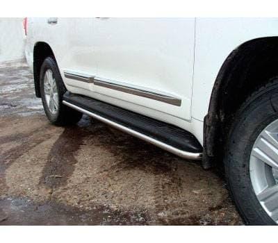 Защита порогов 42,4 мм для Toyota Land Cruiser 200 № TOYLC20012-03
