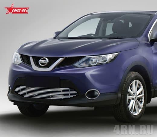 Декоративные элементы воздухозаборника (хром загл.) d10 для Nissan Qashqai (2014-2018) № NQSH.97.2873