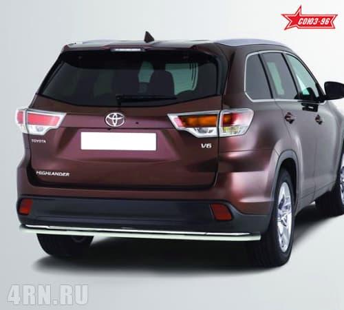 Защита задняя (d60) для Toyota Highlander (2014-2018) № TOHR.75.1995