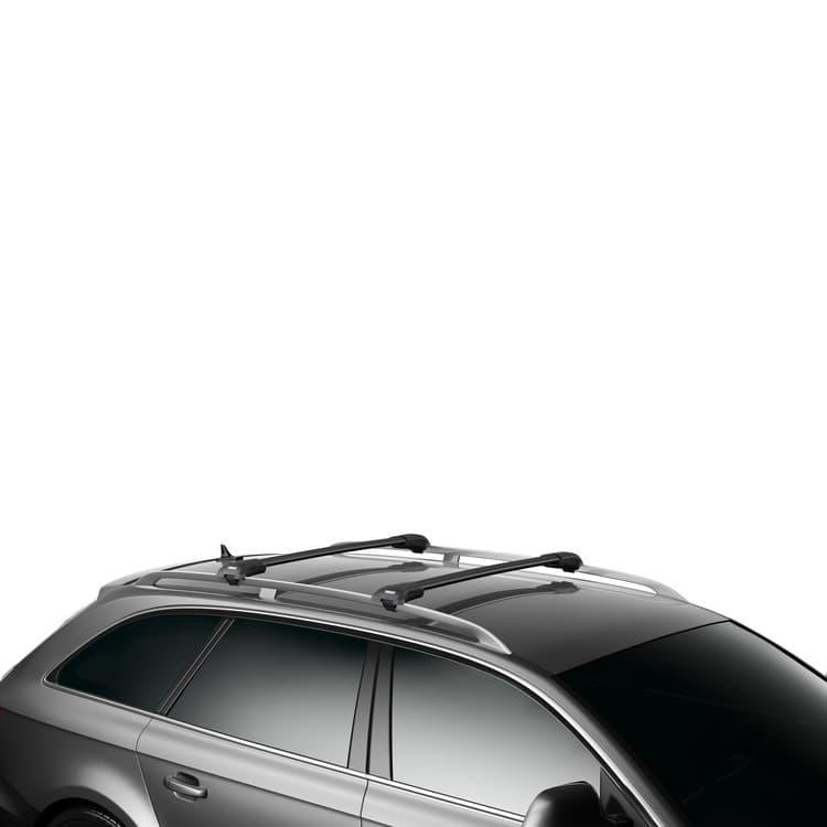 Багажник Thule WingBar Edge Black на рейлинги с дугами в форме крыла для Kia Sorento (2009-2014) № 958520