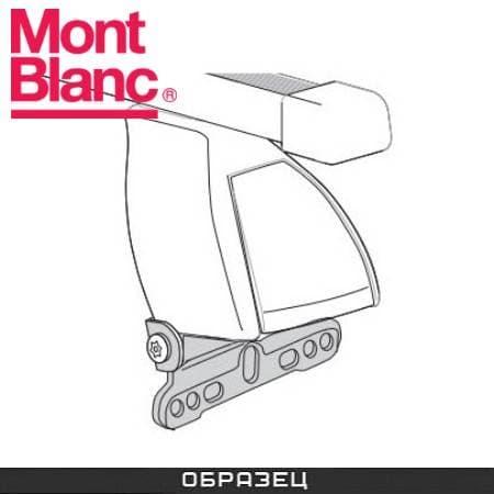Багажник Mont Blanc Classic на крышу с прямоуг. дугами для Peugeot 406 универсал (2000-2004) № 796401+796017