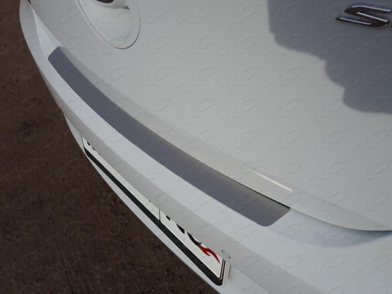 Накладка на наружный порог багажника (лист шлифованный) Hyundai Solaris (2014-2016) № HYUNSOL14-07