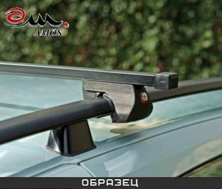 Багажник Amos Alfa на рейлинги с прямоуг. дугами для Nissan Qashqai I 5-дв. (2008-2013) № alfa-o1.3