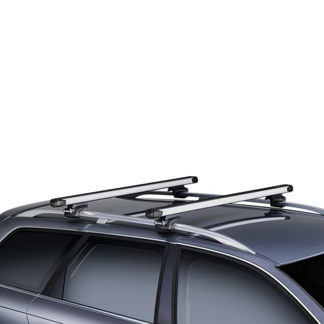 Багажник Thule SlideBar на рейлинги с выдвижными дугами для BMW X5 E70 (2007-2013) № 892-757