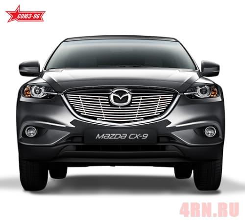 Декоративные элементы решетки радиатора (хром. загл) d10 для Mazda CX-9 (2013-2016) № MCX9.92.2780