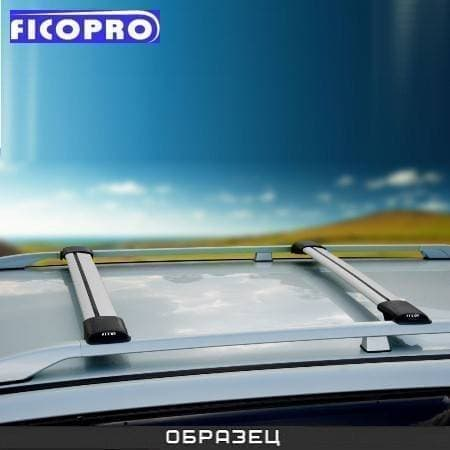 Багажные поперечины Fico на рейлинги серебристые для Toyota RAV4 II 3/5-дв. (2000-2005) № R44-S