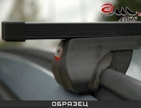 Багажник Amos Alfa на интегрированные рейлинги с прямоуг. дугами для Kia Grand Carnival II 5-дв. (2006-2014) № alfa-o1.2