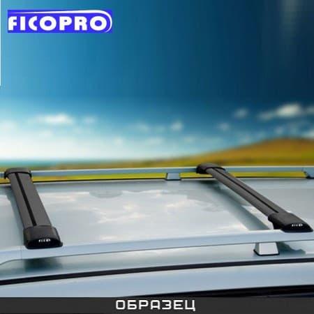 Багажные поперечины Fico на рейлинги черные для Kia Mohave 5дв. (2009-2018) № R45-B