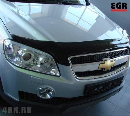 Дефлектор капота для Chevrolet Captiva (2006-2011) № 015061