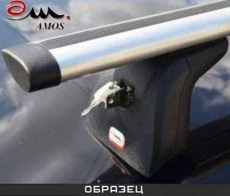 Багажник Amos Beta на крышу с аэро-альфа дугами для Peugeot 607 седан (2000-2010) № beta-b-103-a1.2
