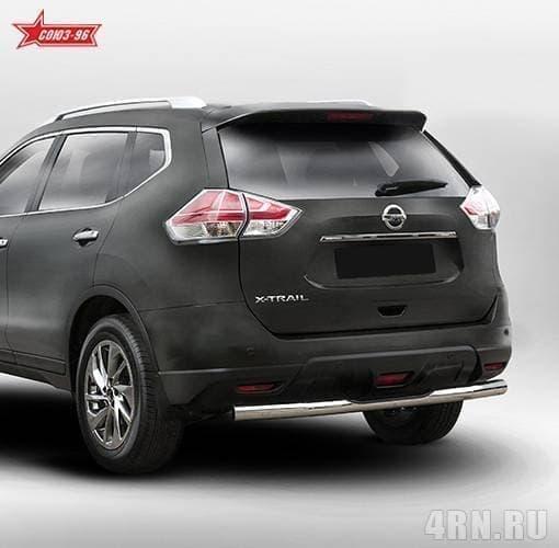 Защита задняя ступень (d76) Nissan X-Trail (2015-2018) № NXTR.77.5279