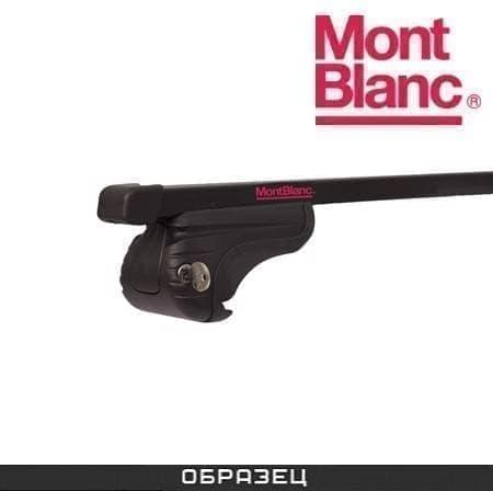 Багажник Mont Blanc AMC на рейлинги с прямоуг. дугами для Toyota Yaris Verso (2003-2006) № 234130+245200