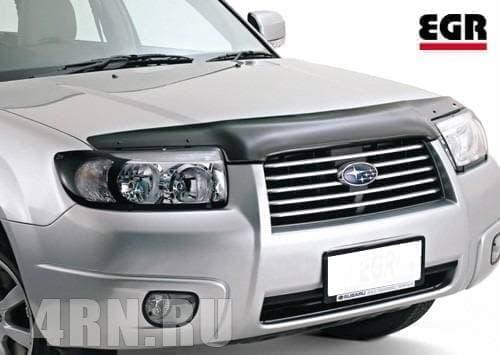 Дефлектор капота для Subaru Forester (2006-2008) № 037051