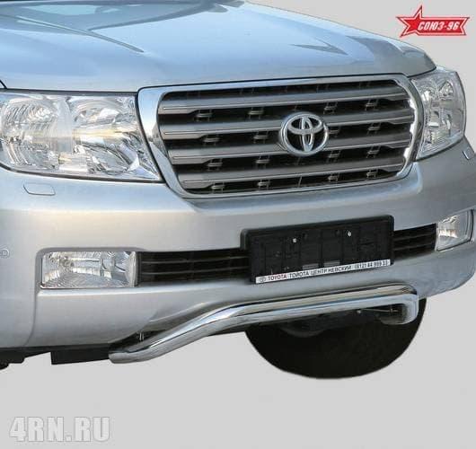 Решетка передняя мини (d60) низкая Toyota Land Cruiser 200 (2007-2011) № TC20.56.0564