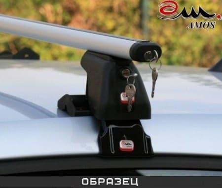 Багажник Amos Dromader Plus на крышу с аэродин. дугами для Nissan Sentra B17 седан (2013-2018) № D-2-f1.4l-plus