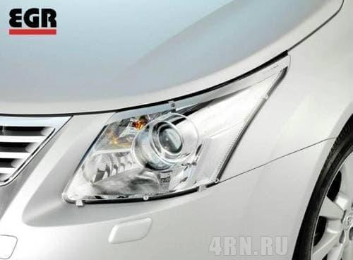 Защита фар прозрачная для Toyota Avensis (2009-2011) № EGR1060