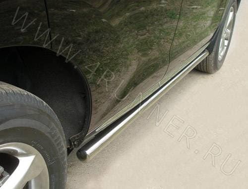 Пороги труба 60,3 мм для Nissan Murano (2009-2015) № NISMUR10-02