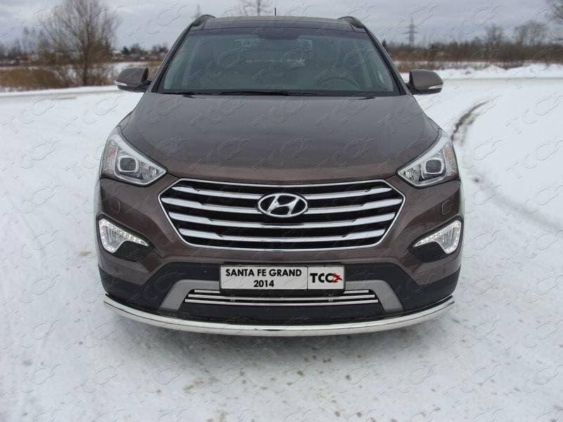 Защита передняя нижняя 60,3 мм для Hyundai Grand Santa Fe (2014-2016) № HYUNSFGR14-02