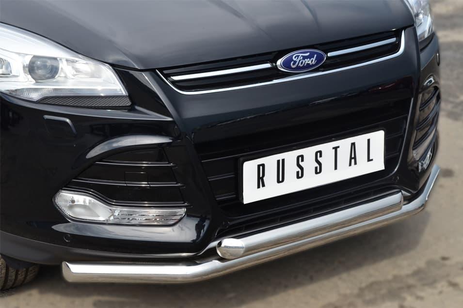 Защита переднего бампера d63 (секции) d63 (дуга) Ford Kuga (2013-2016) № FGZ-001377