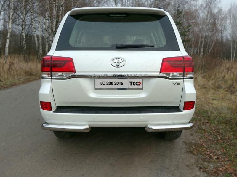 Защита задняя (уголки) 76,1 мм для Toyota Land Cruiser 200 (2015-2018) № TOYLC20015-15