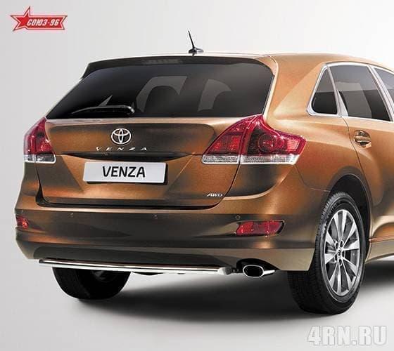 Защита задняя овальная 75х42 горизонтальная Toyota Venza (2013-2015) эксклюзив TMR № TVEN.75.1855