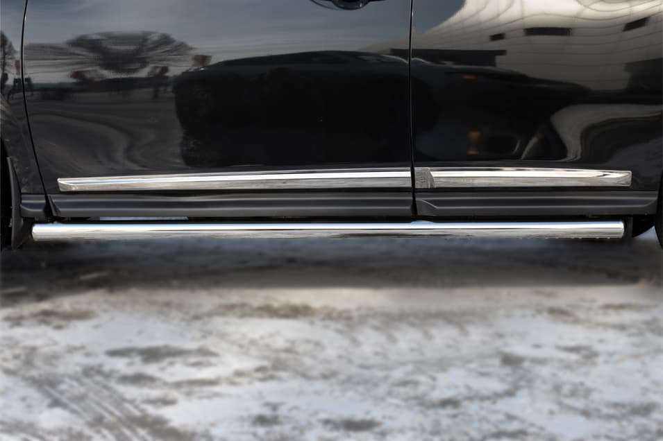 Пороги труба d63 (вариант 3) Nissan Pathfinder (2014-2018) № NPT-0020203