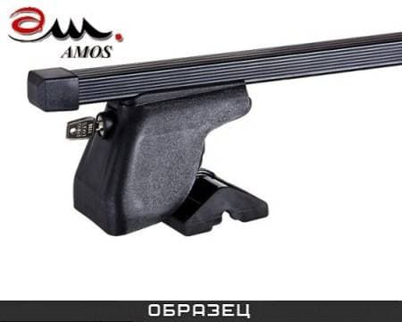 Багажник Amos Dromader Plus на крышу с прямоуг. дугами для Hyundai Accent хэтчбек 5дв. (2012-2018) № C-15-o1.3-plus