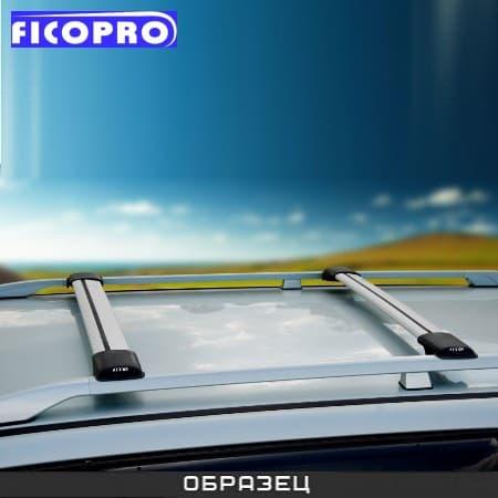 Багажные поперечины Fico на рейлинги серебристые для Jeep Grand Cherokee (2005-2010) № R46-S