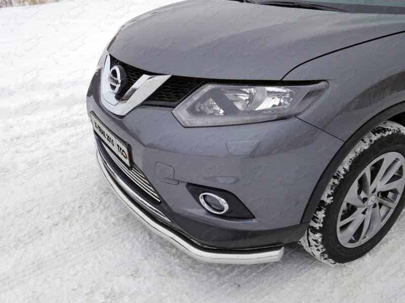 Решетка радиатора нижняя 12 мм Nissan X-Trail (2015-2018) № NISXTR15-07