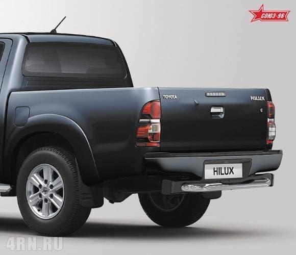 Защита задняя ступень (d76) Toyota Hilux (2011-2015) эксклюзив TMR № TOHX.75.0933