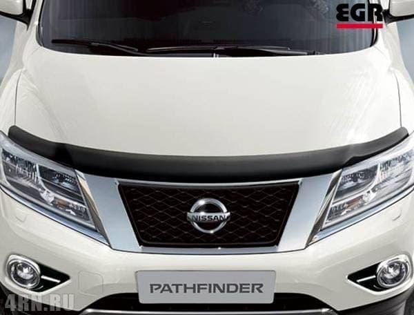 Дефлектор капота для Nissan Pathfinder (2014-2018) № 027271