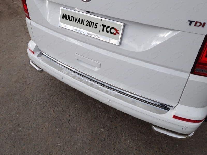 Защита задняя (уголки) 42,4 мм для Volkswagen Multivan (2015-2018) № VWMULT15-14
