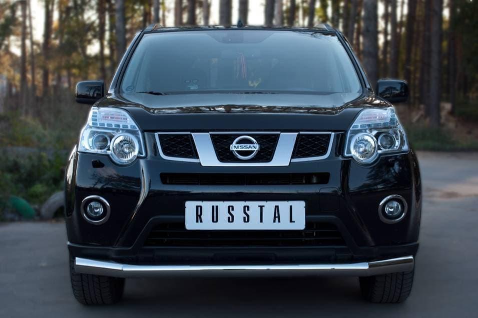 Защита переднего бампера d76 (дуга) Nissan X-Trail (2011-2014) № XNZ-000962