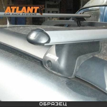 Багажник Атлант на рейлинги с аэродин. дугами для Chevrolet Rezzo универсал (2004-2008) № 8810+8827