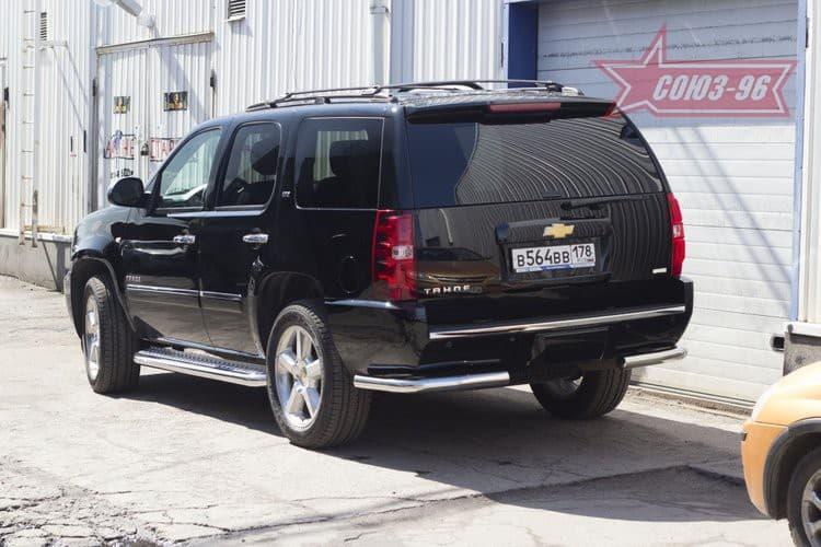 Защита задняя уголки d76 для Chevrolet Tahoe (2012-2014) № CHTH.76.1415