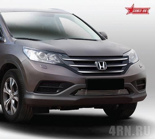 Декоративные элементы на воздухозаборник (черн загл.) d10 для Honda CR-V (2013-2016) № HCRV.92.2810