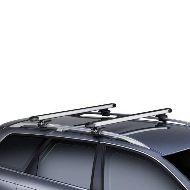 Багажник Thule SlideBar на рейлинги с выдвижными дугами для Peugeot 407 универсал (2004-2010) № 891-757