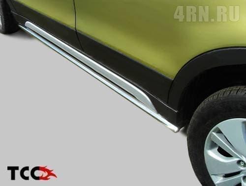 Пороги труба 42,4 мм для Suzuki SX4 (2014-2018) № SUZSX414-07